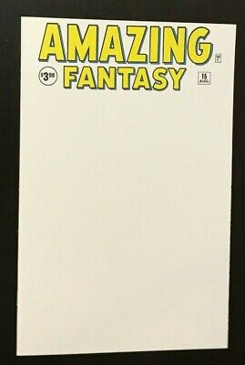 Amazing Fantasy #15 Facsimile Edition Blank Variant sketch cover white Spiderman