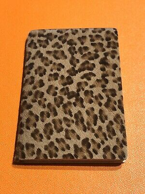 Bottega Veneta Brown Calf Hair Leopard Print Mini Address Book Agenda
