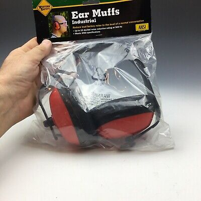 Western Safety Industrial Ear Muffs Up To 23 Decibles Lawnmower Ear Protection