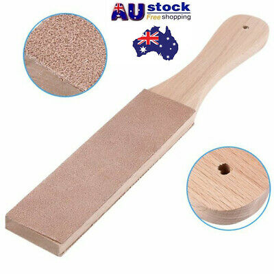 Wooden Dual Sided Leather Sharpening Strop Polishing Board Plate DIY Craft Tool