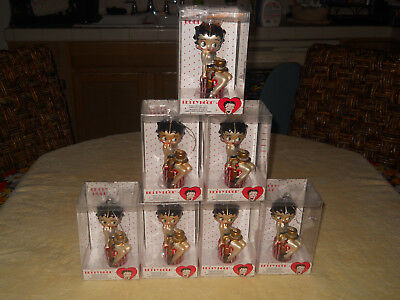 Lt 7 - 2013 Betty Boop Glass Christmas Tree Ornament Santa World Lot Kurt Adler