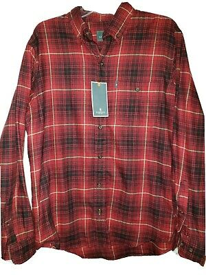 Bass /& Co of Maine Flannel Shirt $65 Long Sleeve Cotton Big /& Tall NWT  GH G.H