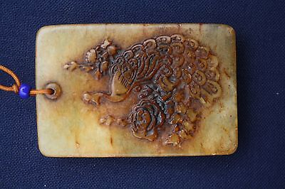 """Ancient Chinese Qing """"Zigang"""" jade nephrite"""