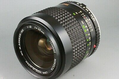 AS IS Minolta MC W.Rokkor HH 35mm f/1.8 Manual 1528683 MF for MD Mount #65