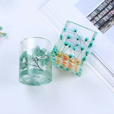 Silicone Mold Resin DIY Pen Container Organizer Storage Holder Crafts Multi Gift