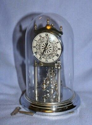 Kundo (Kieninger & Obergfell) Midget 400 day Anniversary Clock with Glass Dome