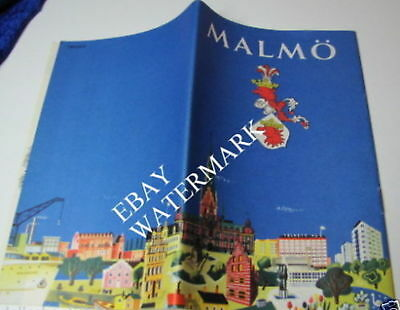 🌟 MALMO SWEDEN TRAVEL GUIDE 1954 Vintage Travel Collectable 🌟 CHEAP