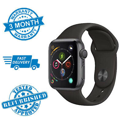 Apple Watch Series 4 44mm Space Grey GPS with Black Sports Band *WARRANTY*