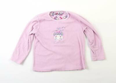 Primark Girls Pink Graphic Jumper Age 6-7