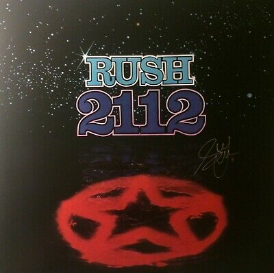 RUSH 2112 Cover Art Poster Hand Signed Geddy Lee w/coa