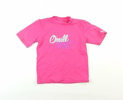 ONeill Girls Pink Graphic T-Shirt Age 4