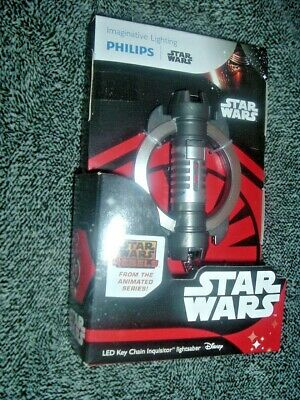 STAR WARS LED FLASH LIGHT and KEYCHAIN by Philips, INQUISITOR LIGHTSABER SHIP