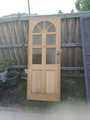 Front door. Solid timber meranti 820 wide x 2015 high double deadlock and key
