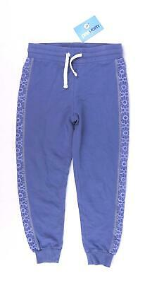 George Girls Blue Floral Flowers Warm Tracksuit Trousers Age 7-8