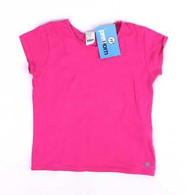 Decathlon Girls Pink T-Shirt Age 6