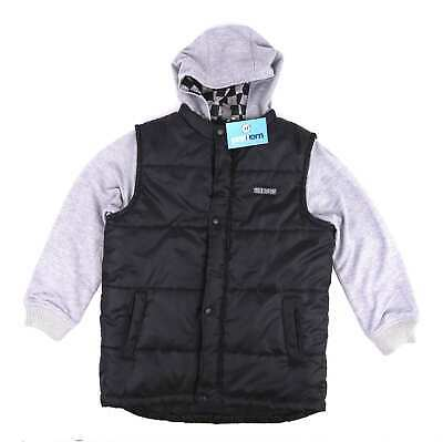Urban Outlaws Boys Black Padded Hooded Jacket Age 10-11