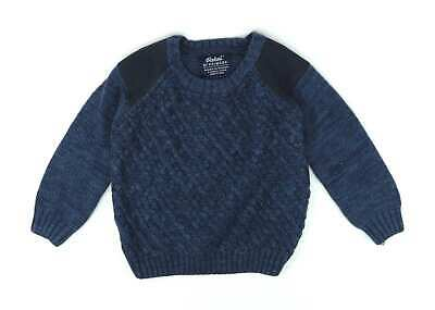 Rebel Boys Blue Jumper Age 4-5