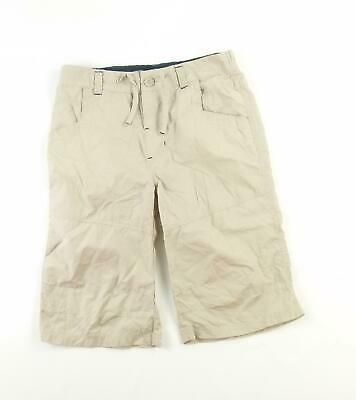 Rebel Boys Beige Plain Shorts Age 11-12