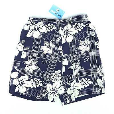 Ocean Pacific Boys Blue Floral Swimming Elasticated Waist Shorts Age 13