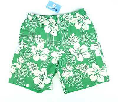 Ocean Pacific Boys Green Floral Swimming Elasticated Waist Shorts Age 13