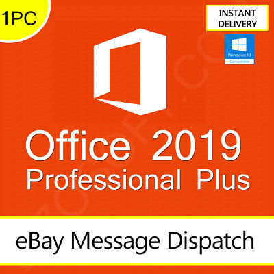 Microsoft Office 2019 Professional Plus License Genuine Lifetime Key 32/64 BIT