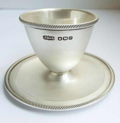 Superb Condition English Antique 1920 Solid Silver Egg Cup On Stand James Dixon