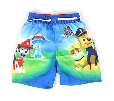 Rebel Boys Blue Graphic Paw Patrol Swim Shorts Age 2-3