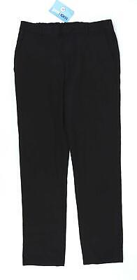 Marks & Spencer Boys Black Formal Elasticated Waist Trousers Age 12-13