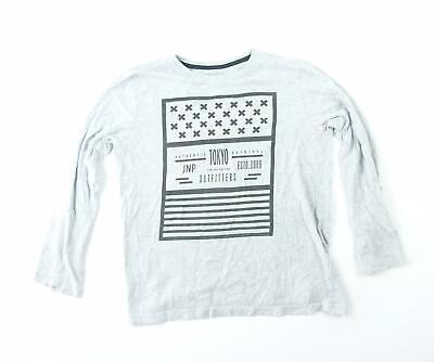 Rebel Boys Grey Graphic Top Age 12-13