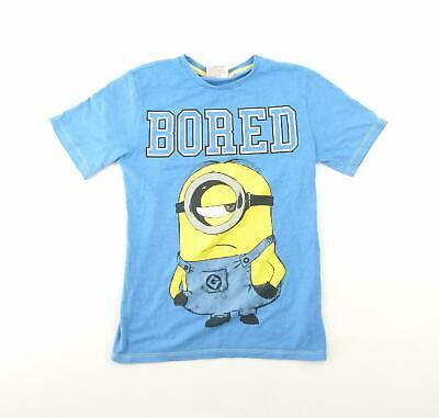 Rebel Boys Blue Graphic T-Shirt Age 9-10