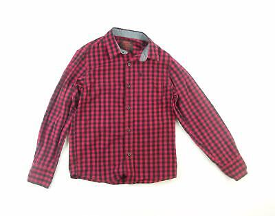 Rebel Boys Red Check Shirt Age 11-12