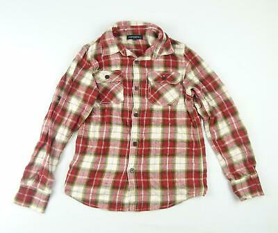Rebel Boys Red Tartan Shirt Age 11-12