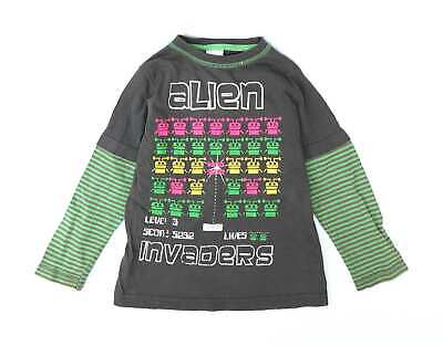 Urban Rascals Boys Green Graphic T-Shirt Age 3-4