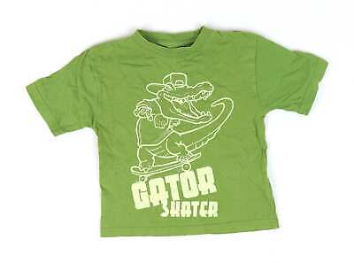 Rebel Boys Green Graphic T-Shirt Age 3-4