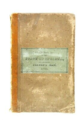 1838 Indiana, Its Geography, History, Statistics, Comm. for Colton's Map. 1st Ed
