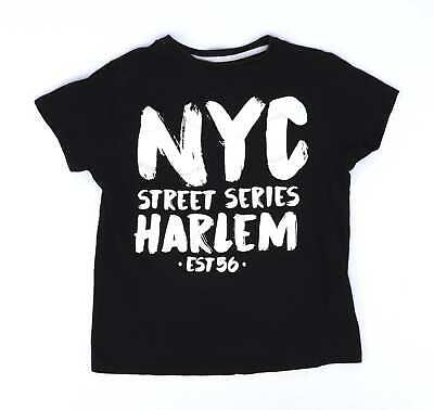 Rebel Boys Black Nyc T-Shirt Age 9-10