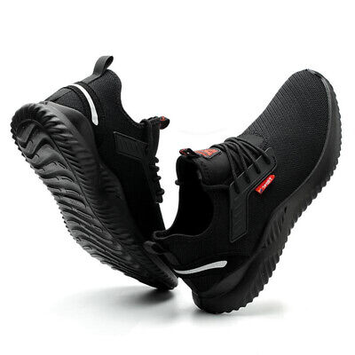 Safety Shoes for Men Women Steel Toe Trainers Lightweight Work Black Sports UK