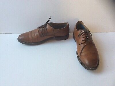 M&S Collection Men's Brown Leather Lace Up Shoes, UK 9.5      EU  44
