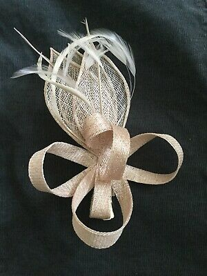 Phase Eight Hair Fascinator Wedding Headpiece Light Pink Champagne Slightly used