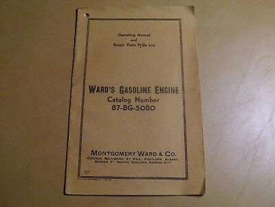 Ward's Gasoline Engine 87-BG-5080 Manual, Operating, Repair Parts & Price List