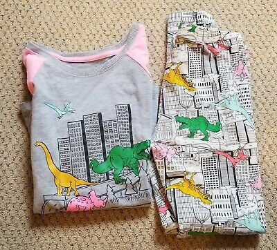 Cat & Jack Two Piece Top and Leggings/Pants Dinosaur Outfit Girls Size L (10/12)
