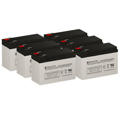6 Pack Brand Product Mighty Max Battery 12V 9AH Replacement Battery for Liebert GXT2 3KRT230E UPS