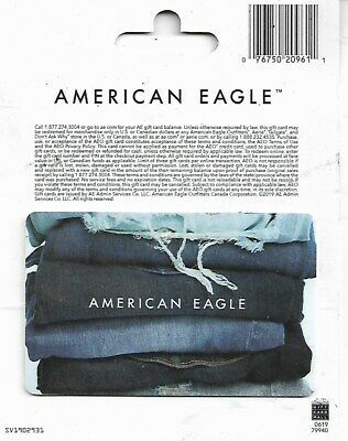 American Eagle Gift Card - No Value On Card