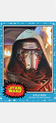 Topps Star Wars Living Set Card Kylo Ren #75 (Mask) Star Wars The Force Awakens