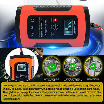 Car Battery Charger 12V 5A LCD Intelligent Automatic Motorcycle Pulse Repair UK