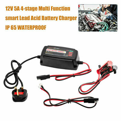 5 Amp Intelligent Car Battery Charger Pulse Repair Starter 12V AGM/GEL 15-150AH