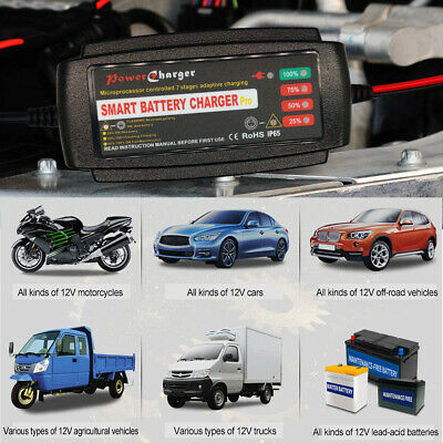 5 Amp Intelligent Car Battery Charger Pulse Repair Starter 12V AGM/GEL UK 5Stage
