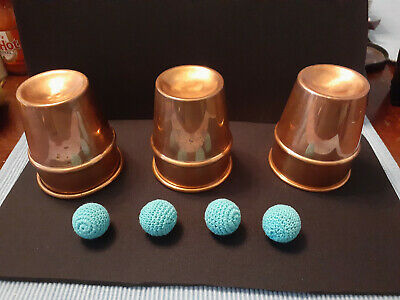 Copper cups and balls. P&L style. Heavier cups.Nice set.