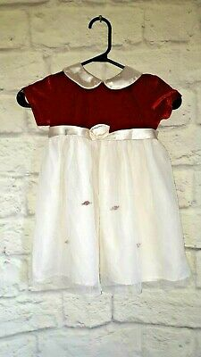 Premiere Collection Toddler's Dress Clothing Size 3T Red/White Vintage Dress