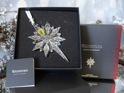 2018 Waterford Annual Snowstar Crystal Ornament #40033462 New In Box